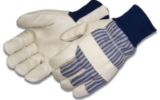 Liberty Gloves 0233 Blue Knit Wrist Insulated 3M Thinsulate Lined Premium Grain Pigskin Glove, Dozen