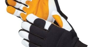 0817 Defender Mechanics Goatskin Gloves, Pair