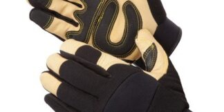 0913 GoldenKnight Premium Leather Mechanics Glove, Pair