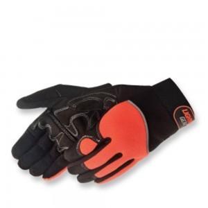 0915Q/HO CrimsonWarrior Hi-Viz Orange Mechanics Glove, Pair