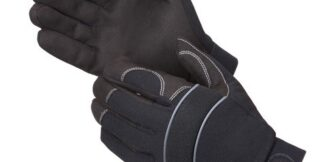 0916BK 1stKnight Black Mechanics Glove, Pair
