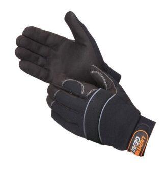 0916BK 1stKnight Black Mechanics Glove, Pair