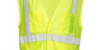 ML Kishigo 1083 4 Pocket Hook and Loop Lime Mesh Vest