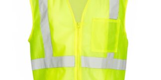 ML Kishigo 1089 Economy Lime Green Class 2 Safety Vest, 1 Pocket