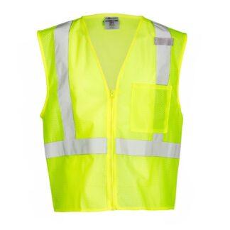 ML Kishigo 1089 Economy Lime Green Class 2 Safety Vest, 1 Pocket