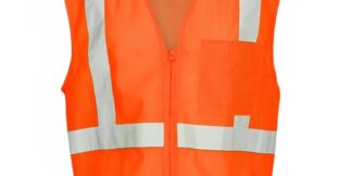 ML Kishigo 1090 Economy Orange Class 2 Safety Vest, 1 Pocket