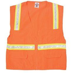 ML Kishigo 1091 Economy Multi-Pocket Surveyor Safety Vest - Orange