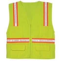 ML Kishigo 1092 Economy Multi-Pocket Surveyor Safety Vest - Yellow/Lime