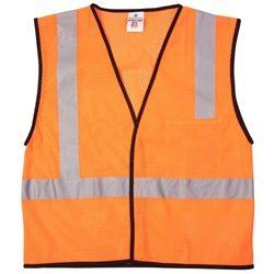 ML Kishigo 1194 Orange Class 2 Economy Series 1-Pocket Mesh Safety Vest