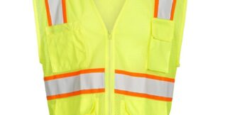 ML Kishigo 1195 Lime Class 2 Ultra Cool Mesh Safety Vest, 6-Pockets