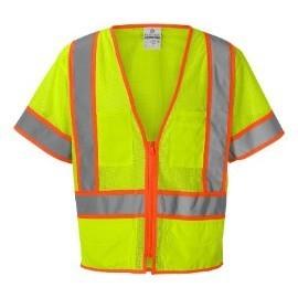 ML Kishigo 1242 Ultra-Cool Lime Class 3 Mesh Surveyors Safety Vest