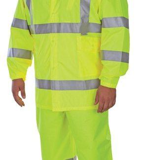 1350 Class 3  3-Piece Hi-Viz Lime Green Rainsuit