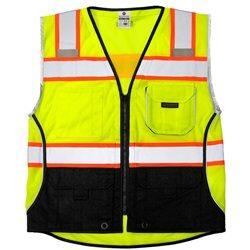 ML Kishigo 1515 Black Series Black Bottom Class 2 Lime Safety Vest