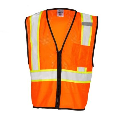 ML Kishigo FM528 Self Extinguishing Contrasting Orange Mesh Vest
