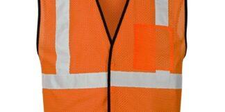 ML Kishigo 1536 Orange Single Pocket Breakaway Economy Vest