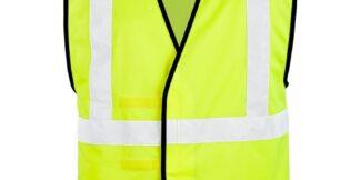ML Kishigo 1545 Solid Adjustable Lime Vest