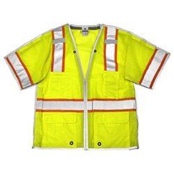 ML Kishigo 1552B Brilliant Series Class 3 Yellow/Lime Breakaway Safety Vest