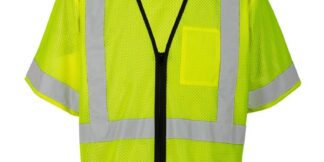 ML Kishigo 1567 Single Pocket Zipper Lime Economy Vest