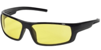INOX 1724A Enforcer Amber Lens With Black Frame
