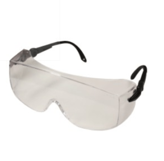 INOX 1751C/AF Armour Clear Lens (anti-fog) Black Temples