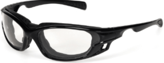 INOX 1773C/AF Gazer Clear Lens (anti-fog) with Black Frame