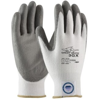 PIP 19-D322 Great White 3GX Glove, Dyneema Diamond Shell, Gray, PU Coating, Dozen
