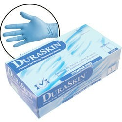 T2010W Blue Disposable Powder Free Nitrile 4mil Gloves , 100ct