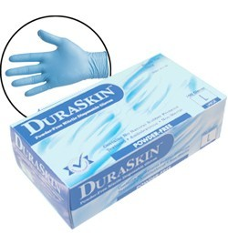 2016W Blue Disposable Powder Free Nitrile 6mil Gloves , 100ct