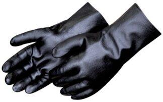 Liberty Gloves 2233 Smooth Finish Black PVC 12 inch Gauntlet Glove, Dozen