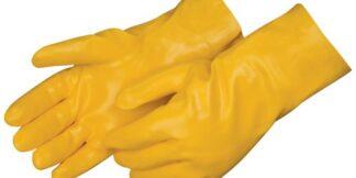 Liberty Gloves 2333JL Smooth Finish Yellow PVC Glove with 12 inch Gauntlet, Dozen