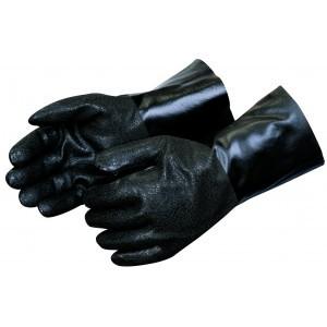 Liberty Gloves I2424 Rough Finish Black PVC Glove with 14 inch Gauntlet, Dozen