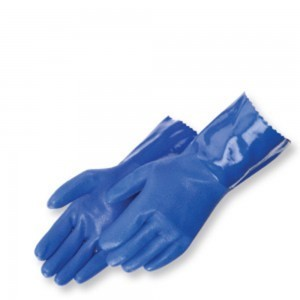 Liberty Gloves 2753BL Sandy Finish Blue PVC Thermal Lined Glove with 12 inch Gauntlet, Dozen
