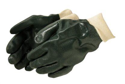 Liberty Gloves 2731 Sandy Finish Green PVC Glove with Knit Wrist, Dozen