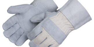 Liberty Gloves 3261 Select shoulder  Leather Cuff White Canvas Back, Dozen
