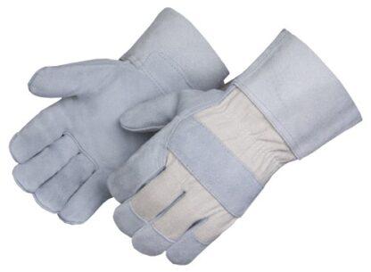 Liberty Gloves 3261 Select shoulder  Leather Cuff White Canvas Back, Dozen