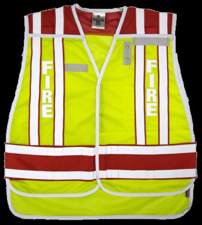 MLK 4003BV Red/Fire Dept. Class 2 safety Vest