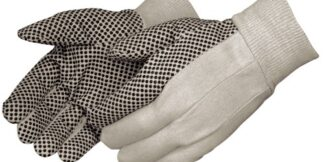 4505  8oz Cotton Canvas Gloves With Black PVC Dots, Dozen