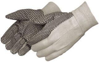4505  8oz Cotton Canvas Gloves With Black PVC Dots, Dozen