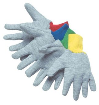 4514XS Assorted Color Gray Jersey Gloves, Dozen