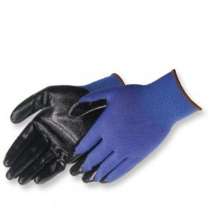 Liberty Gloves 4631Q/BL Q-Grip Ultra Thin Black Nitrile Coated Palm Glove, Dozen