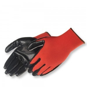 Liberty Gloves 4631Q/RD QGrip UltraThin Black Nitrile Coated Palm Glove, Dozen