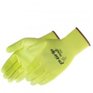 SP4636 P-Grip Ultra-Thin Fluorescent Yellow Polyurethane Palm Coated Glove, Dozen