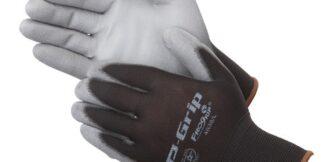 P-Grip 4638  Black Nylon With Grey Polyurethane Shell