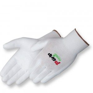 P4640 P-Grip Ultra-Thin White Polyurethane Coated Palm Glove, Dozen