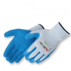 Liberty Gloves 4700 A-Grip Premium Blue Latex Coated Palm Glove, Dozen