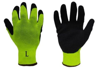 Liberty Gloves 4729HY A-Grip Black Coated Latex Coated Palm Glove, Dozen