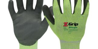 Liberty Gloves Z-Grip 4928HG Hi-Viz Green Shell with Gray Polyurethane Palm Coated Glove, Dozen