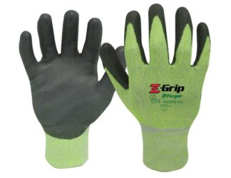 Liberty Gloves Z-Grip 4928HG Hi-Viz Green Shell with Gray Polyurethane Palm Coated Glove, Dozen