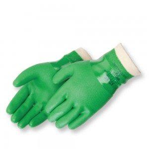 Liberty Gloves Atlas 600 Premium Green PVC Coated, Dozen