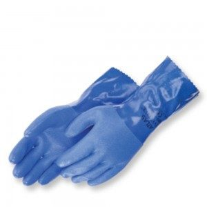 Liberty Gloves Atlas 660 Premium Triple Dipped Blue PVC Glove with 12